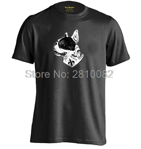 French Bulldog Side View Tattoo On Neck Men's T-Shirt