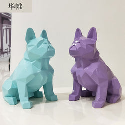 French Bulldog Nordic Abstract Resin Statue Figurine