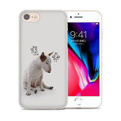 Bull Terrier Devil Angel Over Shoulder Phone Case for iPhone