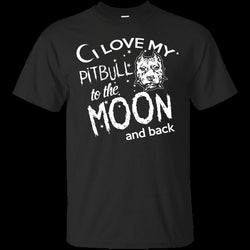 I Love My Pitbull to the Moon and Back Men's T-Shirt