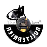 Bull Terrier Side View Vinyl Wall Clock