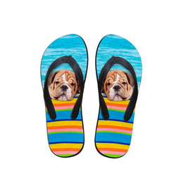 French Bulldog Pool Side Flip Flop Sandals