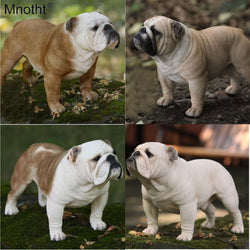 Detailed Realistic English Bulldog 1/4 Scale Figurine Decoration