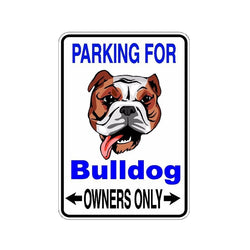 Parking for Bulldog Owners Only Sticker