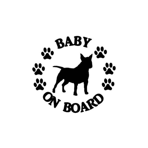 Baby on Board Bull Terrier Sticker