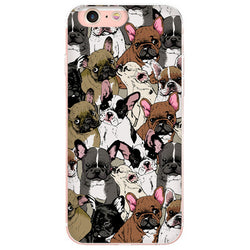 Different French Bulldogs Pattern Phone Case for iPhone