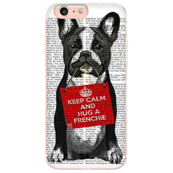 Keep Calm and Hug a Frenchie Phone Case for iPhone