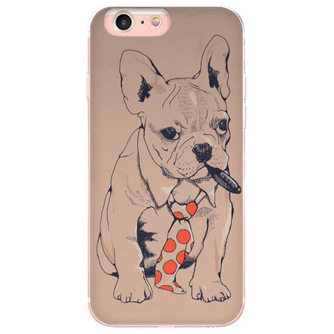 French Bulldog Tie Cigar Boss Phone Case for iPhone