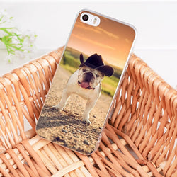 English Bulldog Cowboy Sunset Phone Case for iPhone