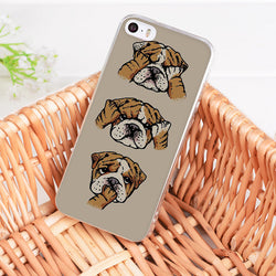 Peek-A-Poo English Bulldog Brown Phone Case for iPhone