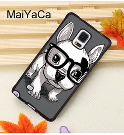 Cute French Bulldog Puppy With Big Glasses Phone Case for Galaxy