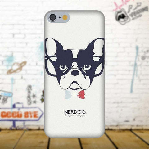 French Bulldog Outline Nerdog Phone Case for Galaxy