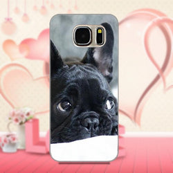 Black French Bulldog Laying Looking Away Phone Case for Galaxy