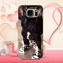 All Black French Bulldog Wearing Converse Chucks Phone Case for Galaxy