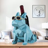 French Bulldog Abstract Geometry Statue Wine Bottle Rack