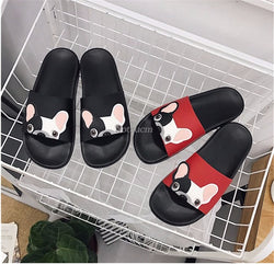 French Bulldog Peaking Slide On Slipper Sandals