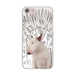 Bull Terrier Game of Throne Background Drawing Phone Case for iPhone