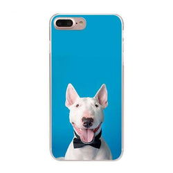 Happy Bull Terrier Black Bow Tie Phone Case for iPhone