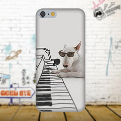 Bull Terrier Playing Piano Shade On Phone Case for iPhone