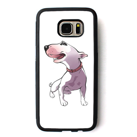 Happy Cartoon Bull Terrier Looking Side Phone Case for Galaxy