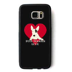 Bull Terrier Inside Red Heart Phone Case for Galaxy
