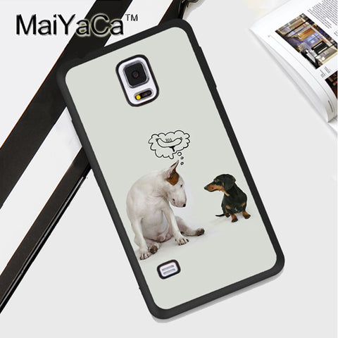 Bull Terrier Thinking Hot Dog Phone Case for Galaxy