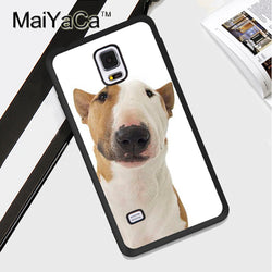 Brown White Bull Terrier Tilted Phone Case for Galaxy