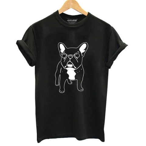 French Bulldog Outline Cute Happy Women's T-Shirt