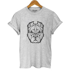 Pit Bull Head Mosaic Outline Women's T-Shirt