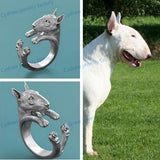 Bull Terrier Realistic Body Wrap Fashion Ring