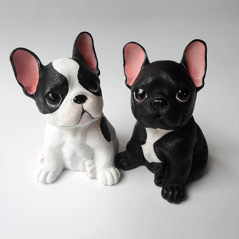 Cute Small French Bulldog Big Head Figurine
