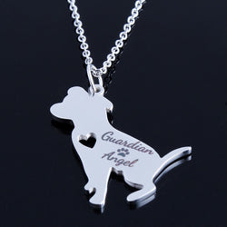 Pit Bull Guardian Angel Pendant Necklace