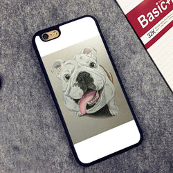 English Bulldog Light Water Painting Puddle Phone Case for iPhone