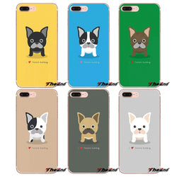 Cute Cartoon French Bulldog I Love French Bulldog Phone Case for iPhone