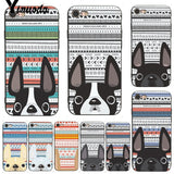 French Bulldog Point Ears Geometric Background Phone Case for iPhone