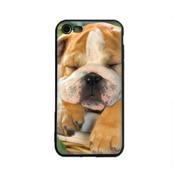 Cute Sleeping Tan English Bulldog Phone Case for iPhone