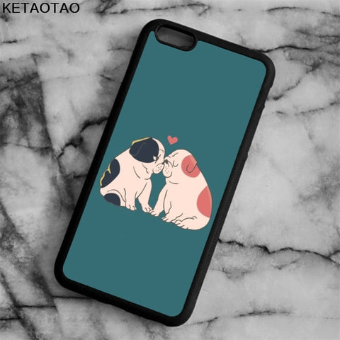 English Bulldog Love Kisses Sitting Phone Case for iPhone, Galaxy