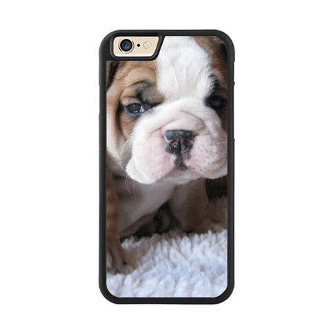 Cute Wrinkly Baby English Bulldog Puppy Phone Case for iPhone