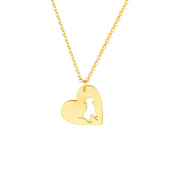Pit Bull In Heart Pendant Necklace