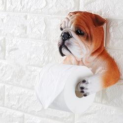 English Bulldog Arms Toilet Paper Holder