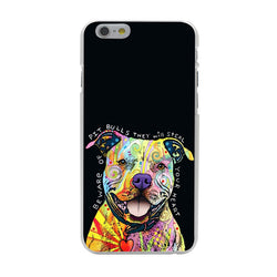Colorful Pattern Pit Bull Steal Heart Quote Phone Case for iPhone