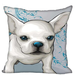 White French Bulldog Blue Nose Cartoon Pillowcase