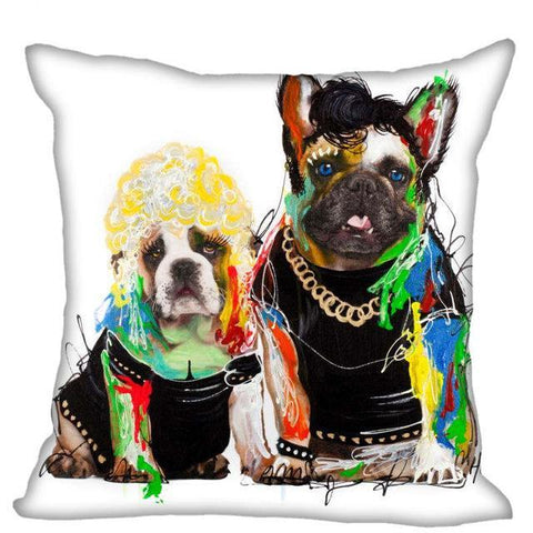 Funny Cool Hip English and French Bulldog Pillow Case