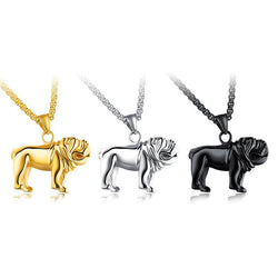 English Bulldog Side Figure 3D Necklace