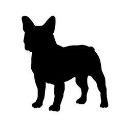 "French Bulldog Silhouette Outline (3.9"" x 4.3"")"
