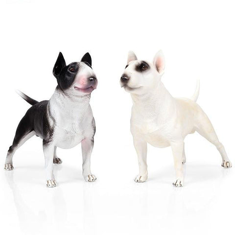 Bull Terrier Detailed Realistic Model Figurine
