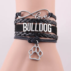 Love Bulldog Paw Rope Chain Bracelet