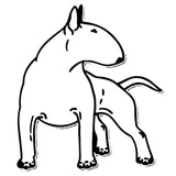 "Bull Terrier Outline Looking Back Sticker (5.5"" x 4.8"")"