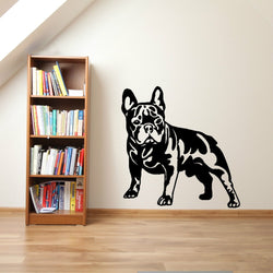 "French Bulldog Normal Stance Dark Shading Outline Sticker (17.3"" x 17.7""), (22.4"" x 22.8"")"