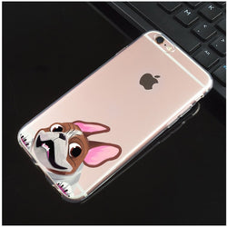 French Bulldog Cartoon Wind Blowing Phone Case for iPhone